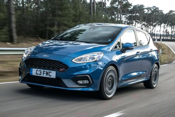 ford fiesta st on the road