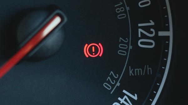 brake oil warning light