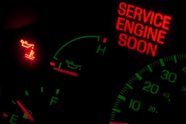 engine oil pressure warning light