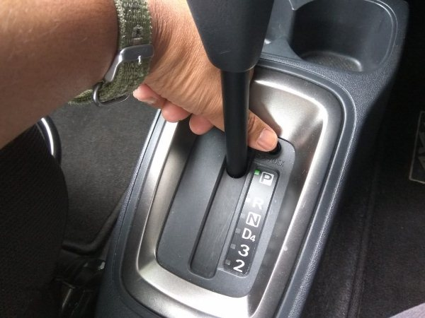 do not hold the shift lock button