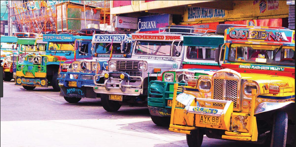 rare colorful jeepney