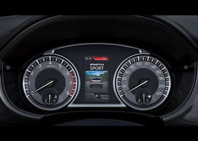 dashboard of the Suzuki Vitara 2019 facelift