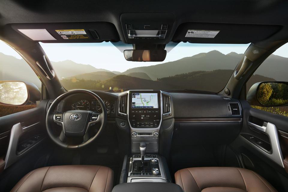 Interior of Toyota Land Cruiser