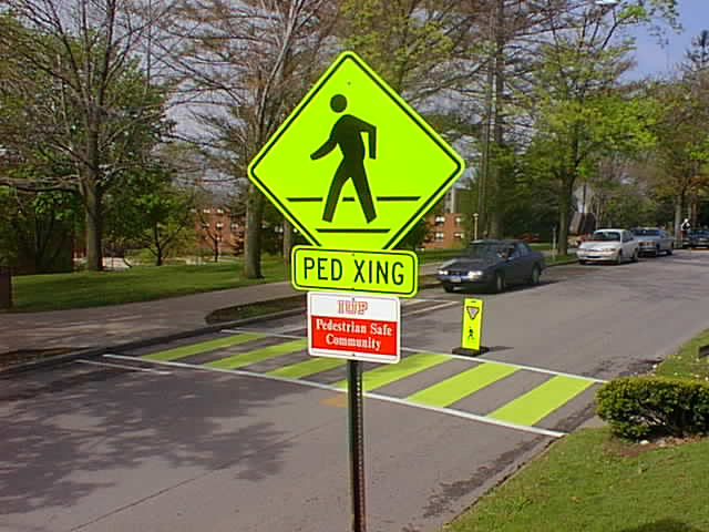 Ped Xing sign