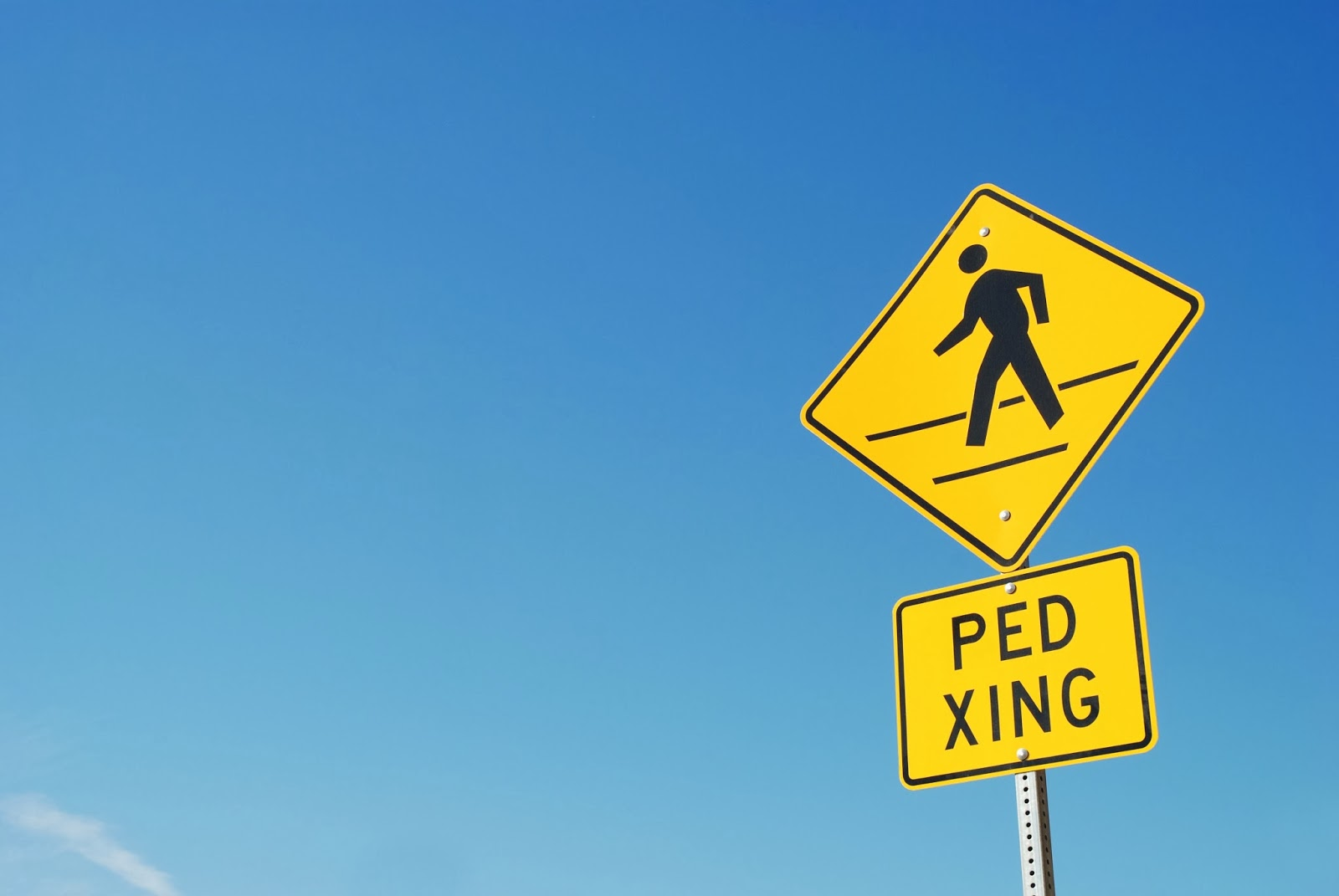 Ped Xing means Pedestrian Crossing