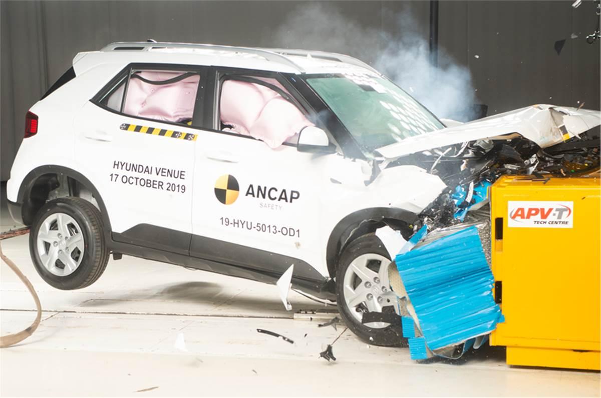 Hyundai Venue ANCAP rating is 4 stars