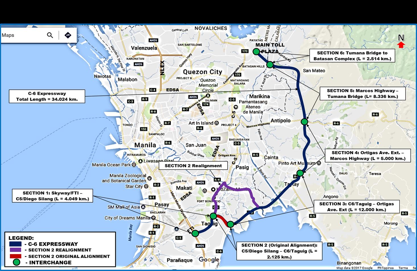 southeast metro manila expressway map