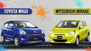 [Car Showdown 101] Toyota Wigo vs Mitsubishi Mirage: Who wins?