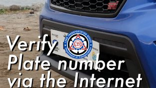 How to verify vehicle LTO plate number via Internet?